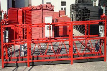 বিল্ডিং পরিষ্কার 800kg রেট লোড সঙ্গে কাজ প্ল্যাটফর্ম zlp800 স্থগিত