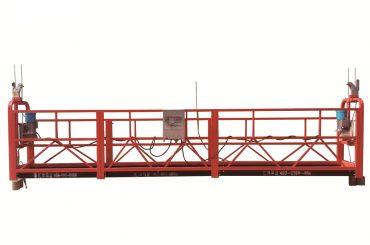 ইস্পাত / গরম galvanized অস্থায়ী স্থগিত প্ল্যাটফর্ম, zlp500 রক্ষণাবেক্ষণ প্যাডেল
