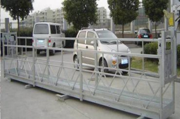 নিরাপত্তা লক 30kn সঙ্গে 2.5mx 3 বিভাগে ভরাট প্ল্যাটফর্ম 800 কেজি অ্যালুমিনিয়াম